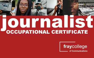fraycollege opens applications for Occupational Certificate: Journalist